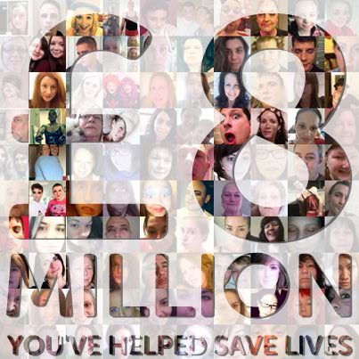 £8 million raised will help save lives