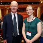 Fiona Nielsen with Science Minister David Willets.